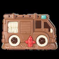 """Профессиональная поликарбонатная форма для   шоколада """"Пожарная машина """" 120 г"""