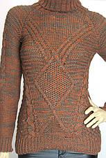 вязаний жіночий теплий  светр гольф   , фото 3