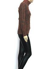 вязаний жіночий теплий  светр гольф   , фото 2