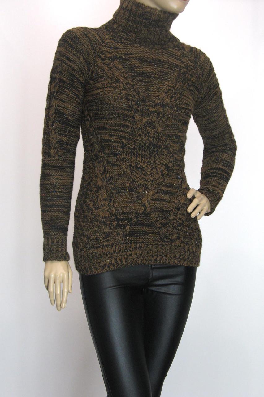 вязаний жіночий теплий  светр гольф