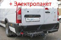 Фаркоп - Nissan NV 400 Мікроавтобус (2010--) L=4685 2 кол. з підніжкою, фото 1