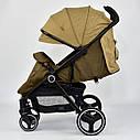 Детская коляска сераяJOY 6883 Coffee деткам до 3 лет, фото 3