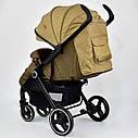 Детская коляска сераяJOY 6883 Coffee деткам до 3 лет, фото 4
