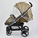Детская коляска сераяJOY 6883 Coffee деткам до 3 лет, фото 5
