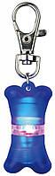 Брелок-фонарик для собак, косточка 2х4см синий, Trixie™