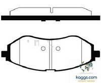 Samsung smb23974 Тормозные колодки (передние) CHEVROLET Aveo, Zaz Vida 96534653