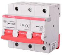 Модульный автоматический выключатель e. industrial.mcb.150.3.C125,3p,125A,C,15kA