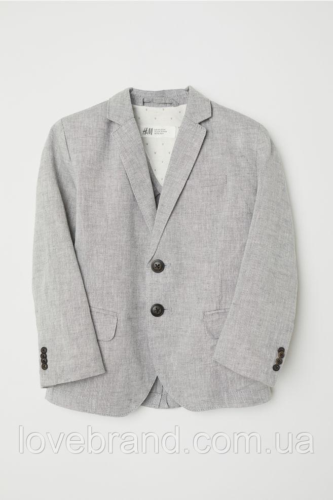 Лляной пиджак для мальчика H&M серый