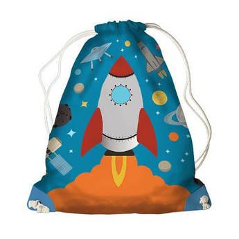 Детский рюкзак мешок на шнурке Ракета