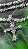 Серебряная цепочка с крестом, фото 3