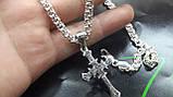 Серебряная цепочка с крестом, фото 4