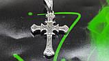 Серебряная цепочка с крестом, фото 5