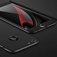 Чехол GKK 360 для Iphone 7 / Iphone 8 Бампер оригинальный с вырезом black