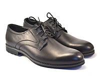 Дерби классические туфли кожаные мужская обувь больших размеров Rosso Avangard Solder Uomo Grey Line BS черные, фото 1