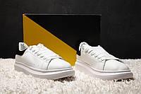 Мужские кроссовки Alexander McQueen White/Black
