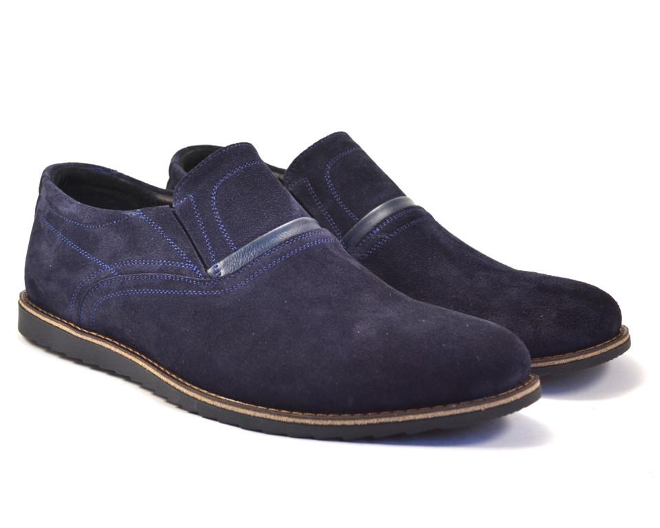 Туфли мужские на резинке нубук комфорт на каждый день обувь больших размеров Rosso Avangard BS Persona RBN