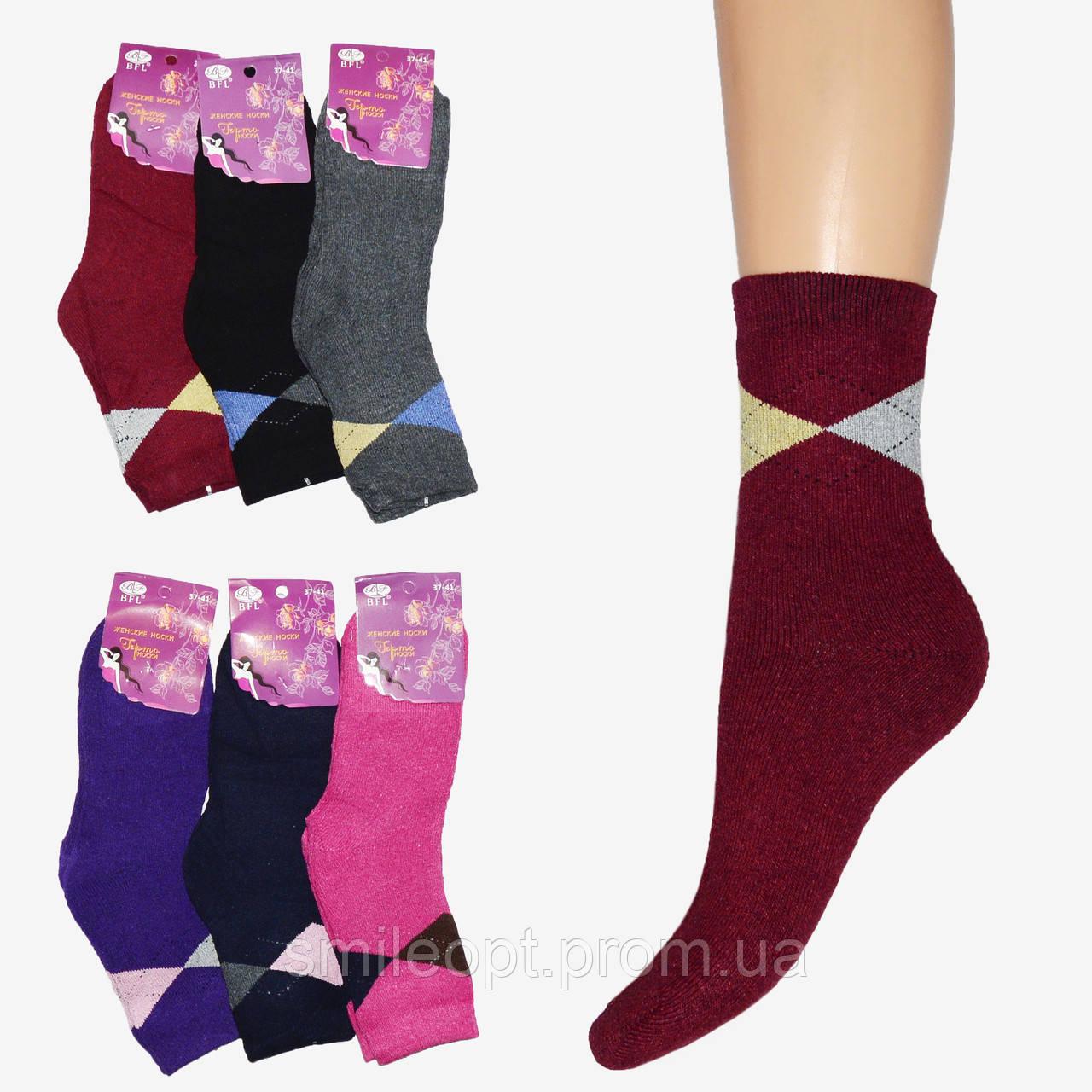 b2b9c4e7697ae Махровые носки женские узор (NG26) - SmileOpt - Оптовый склад-магазин  одежды Смайл