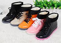 Стильные резиновые ботинки осень-зима 35 - 40