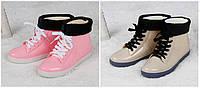 Стильные резиновые ботинки осень-зима