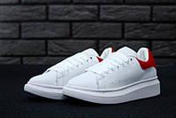Женские кроссовки Alexander McQueen White/Red