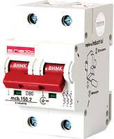 Модульный автоматический выключатель e.industrial.mcb.150.2.D80,2p,80A,D ,15kA