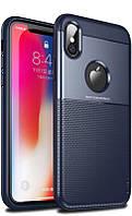 Чехол Ipaky Elegant Grid Design для Apple iPhone X Blue