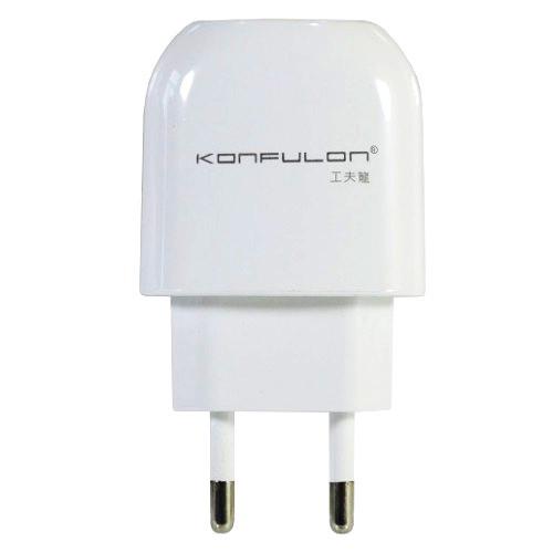 Сетевое зарядное устройство Konfulon C16 2USB/2.1A белый