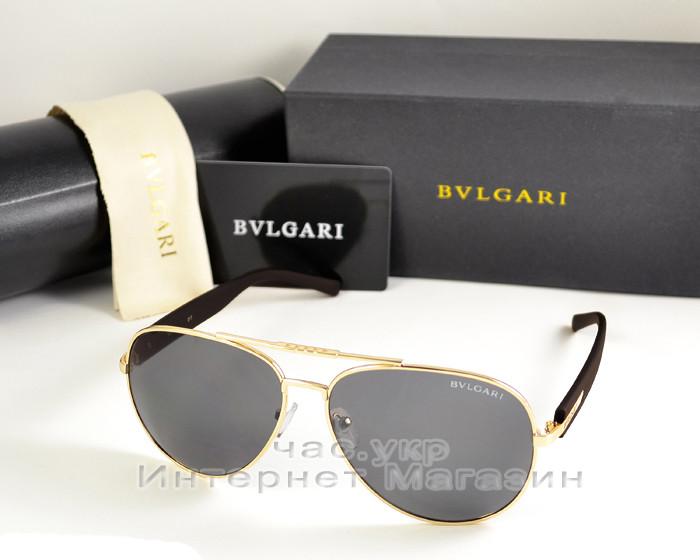 Мужские и женские солнцезащитные очки BvLgari Aviator Авиатор качество Булгари золото реплика