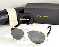 Мужские и женские солнцезащитные очки BvLgari Aviator Авиатор качество Булгари золото реплика, фото 1