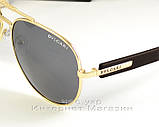 Мужские и женские солнцезащитные очки BvLgari Aviator Авиатор качество Булгари золото реплика, фото 2