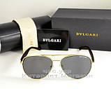 Мужские и женские солнцезащитные очки BvLgari Aviator Авиатор качество Булгари золото реплика, фото 4