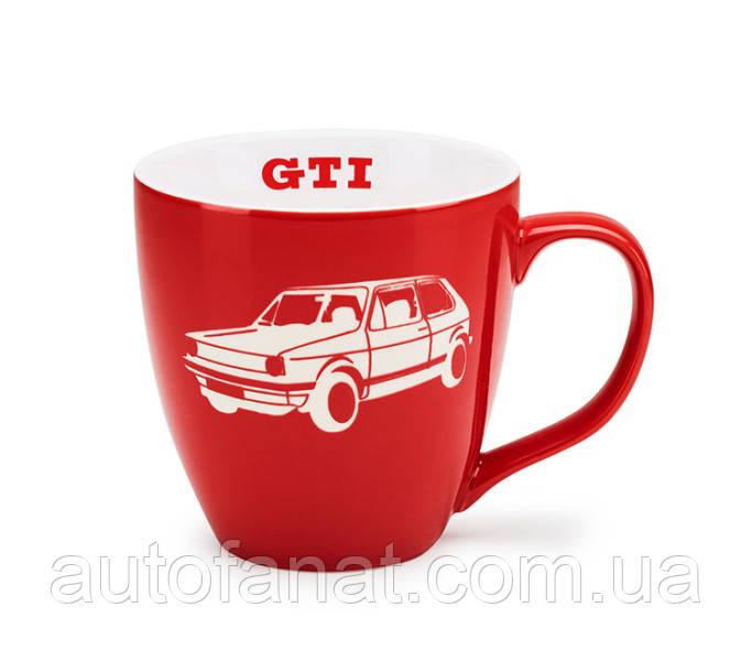 Оригинальная фарфоровая кружка Volkswagen GTI Mug, Red/White (5KA069601A)