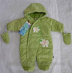 Демисезонный термокомбинезон BEAR Brothers зеленый для новорожденных (р. 62, 68 см) (QuadriFoglio, Польша)