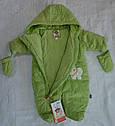 Демисезонный термокомбинезон BEAR Brothers зеленый для новорожденных (QuadriFoglio, Польша), фото 5