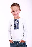 """Вышитая футболка на мальчика с длинным рукавом """"Кольорова 2"""", фото 1"""