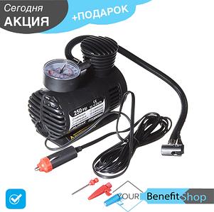 Автомобильный насос компрессор Air Compressor DC-12V / 250 PSI /  автокомпрессор