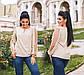 """Женская стильная нарядная блузка 4198-1 """"Софт Рукава Сетка Горох"""" в расцветках, фото 3"""