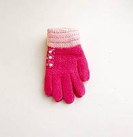 Детские шерстяные перчатки для девочек