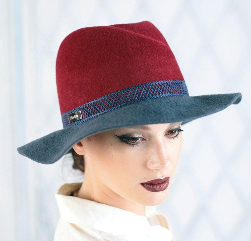 307-2 Женская фетровая шляпа Хелен Лайн
