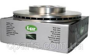 Диск гальмівний передній вентильований Renault Duster 1.5 DCi, 1.6 16V (4x4)(LPR R1036V)(середня якість)