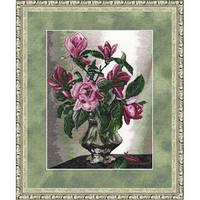 """Набор для вышивания крестом ТМ Золотое Руно """"Магнолии. Любимые цветы """" ЛЦ-027"""