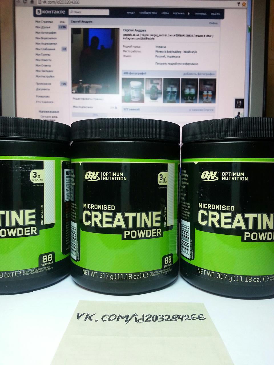 Optimum Nutrition Creatine Powder 300г