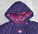 Зимний термокомбинезон-конверт для младенцев фиолетовый (QuadriFoglio, Польша), фото 2