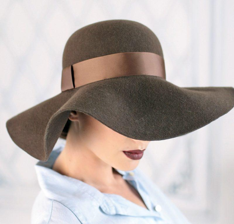 311-2 Женская фетровая шляпа Хелен Лайн