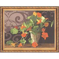 """Набор для вышивания крестом ТМ Золотое Руно """"Настурции.Любимые цветы """" ЛЦ-033"""