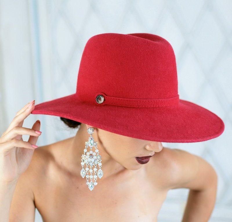 312-1 Женская фетровая шляпа Хелен Лайн