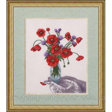 """Набор для вышивания крестом ТМ Золотое Руно """"Маковый полдень.Любимые цветы """" ЛЦ-039"""