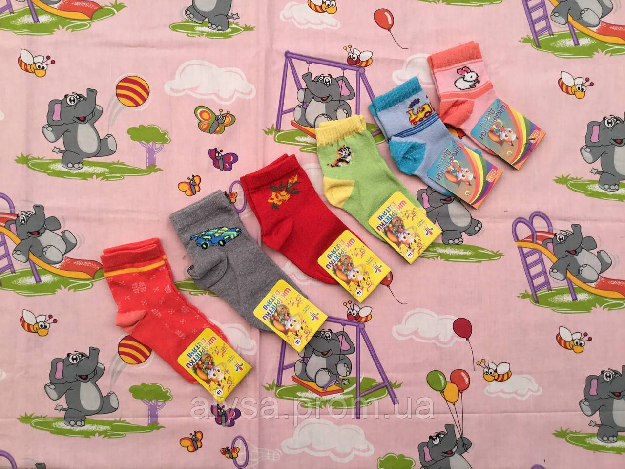 Шкарпетки дитячі весна/осінь кольорові