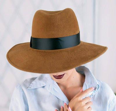 312-2 Женская фетровая шляпа Хелен Лайн