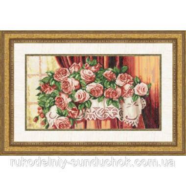 """Набір для вишивання хрестом ТМ Золоте Руно """"Троянди на столі.Улюблені квіти """" ЛЦ-040"""